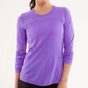 lululemon Runbeam Long Sleeve Top In Power Purple